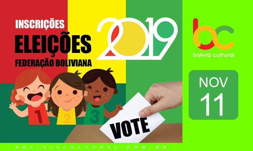 Inscrição de candidaturas para eleição da Federação Boliviana no Brasil