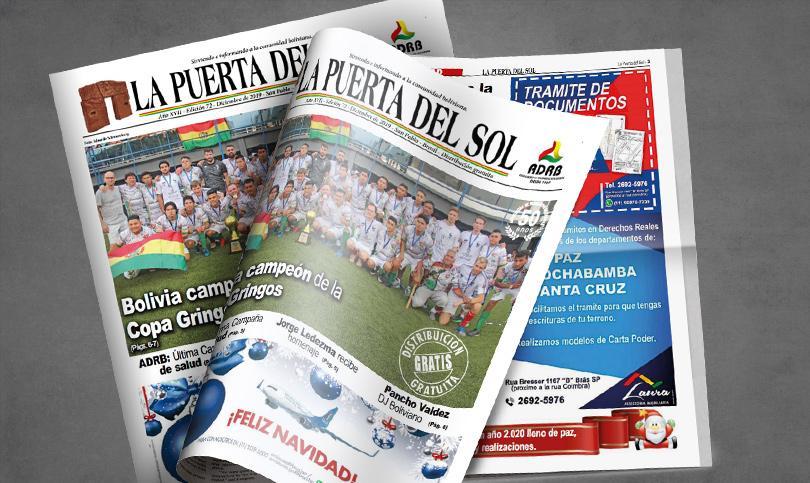 Edição nº 72 do Jornal boliviano - La Puerta Del Sol em SP