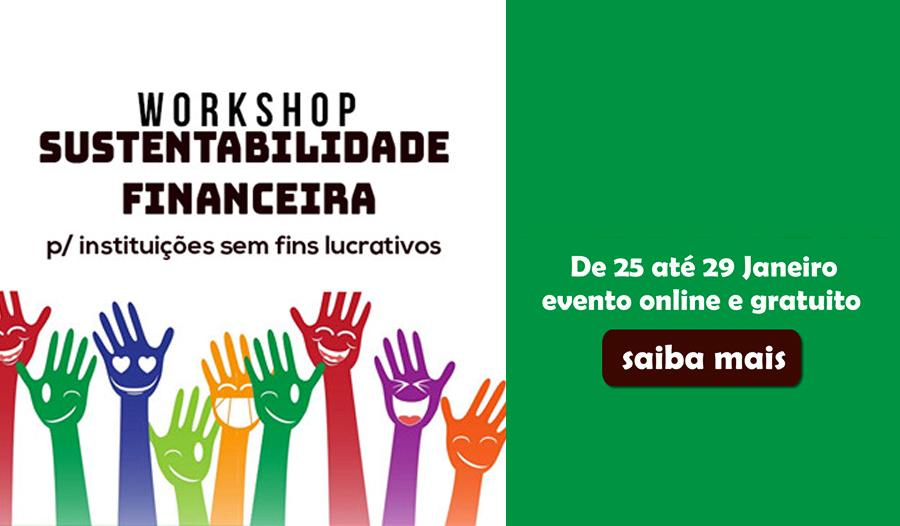 Workshop - Sustentabilidade financeira para associações e OS - sem fins de lucro