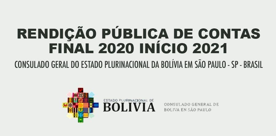 Rendição Pública de Contas - Consulado Geral da Bolívia em SP