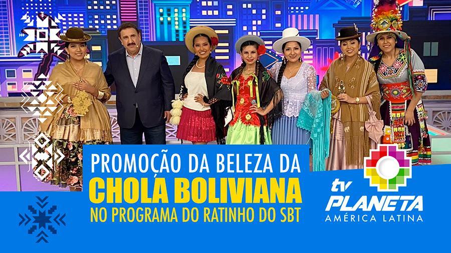 A beleza da chola boliviana foi destaque no palco do Programa do Ratinho no SBT